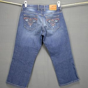 Lucky Brand Womens Crop Jeans Sz 6 Whiskered